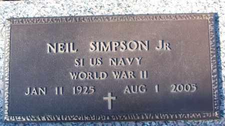 SIMPSON, JR (VETERAN WWII), NEIL - White County, Arkansas   NEIL SIMPSON, JR (VETERAN WWII) - Arkansas Gravestone Photos