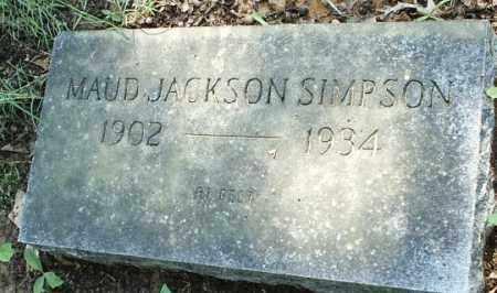 JACKSON SIMPSON, MAUD - White County, Arkansas | MAUD JACKSON SIMPSON - Arkansas Gravestone Photos