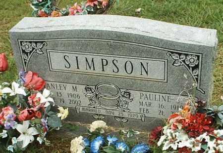 SIMPSON, STANLEY M - White County, Arkansas | STANLEY M SIMPSON - Arkansas Gravestone Photos