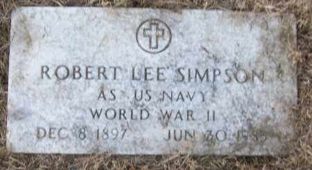 SIMPSON (VETERAN WWII), ROBERT LEE - White County, Arkansas | ROBERT LEE SIMPSON (VETERAN WWII) - Arkansas Gravestone Photos