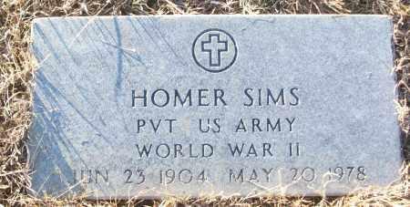 SIMS (VETERAN WWII), HOMER - White County, Arkansas | HOMER SIMS (VETERAN WWII) - Arkansas Gravestone Photos