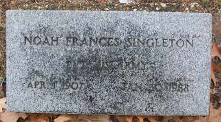 SINGLETON (VETERAN), NOAH FRANCES - White County, Arkansas | NOAH FRANCES SINGLETON (VETERAN) - Arkansas Gravestone Photos
