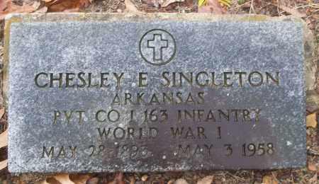 SINGLETON (VETERAN WWI), CHESLEY E - White County, Arkansas | CHESLEY E SINGLETON (VETERAN WWI) - Arkansas Gravestone Photos
