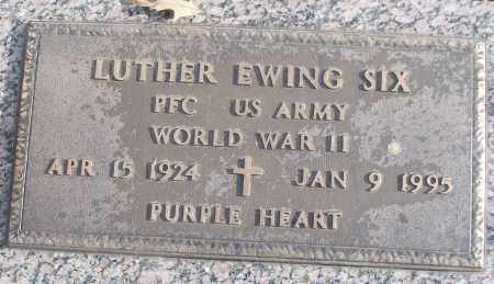 SIX (VETERAN WWII), LUTHER EWING - White County, Arkansas | LUTHER EWING SIX (VETERAN WWII) - Arkansas Gravestone Photos