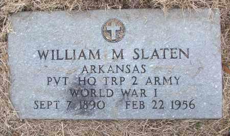 SLATEN (VETERAN WWI), WILLIAM M - White County, Arkansas   WILLIAM M SLATEN (VETERAN WWI) - Arkansas Gravestone Photos