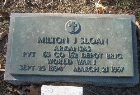 SLOAN (VETERAN WWI), MILTON J - White County, Arkansas   MILTON J SLOAN (VETERAN WWI) - Arkansas Gravestone Photos