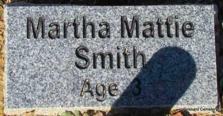SMITH, MARTHA MATTIE - White County, Arkansas   MARTHA MATTIE SMITH - Arkansas Gravestone Photos