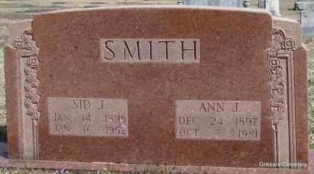 SMITH, SID J - White County, Arkansas | SID J SMITH - Arkansas Gravestone Photos