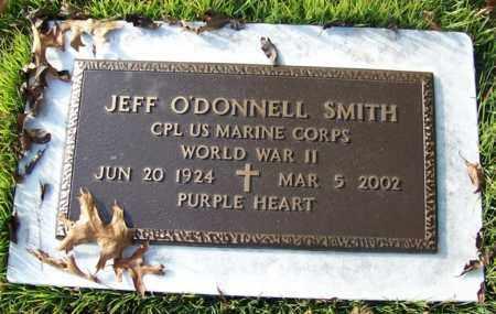 SMITH (VETERAN WWII), JEFF O'DONNELL - White County, Arkansas | JEFF O'DONNELL SMITH (VETERAN WWII) - Arkansas Gravestone Photos