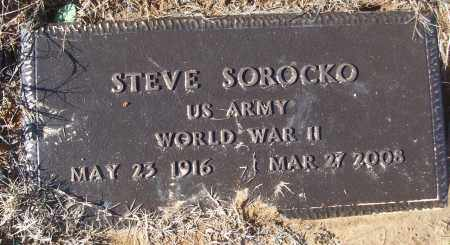 SOROCKO (VETERAN WWII), STEVE - White County, Arkansas | STEVE SOROCKO (VETERAN WWII) - Arkansas Gravestone Photos