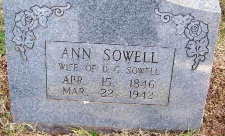 SOWELL, ANN - White County, Arkansas   ANN SOWELL - Arkansas Gravestone Photos