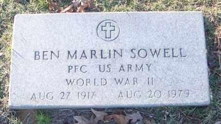 SOWELL (VETERAN WWII), BEN MARLIN - White County, Arkansas | BEN MARLIN SOWELL (VETERAN WWII) - Arkansas Gravestone Photos