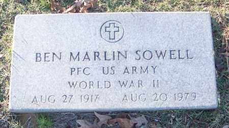 SOWELL (VETERAN WWII), BEN MARLIN - White County, Arkansas | BEN MARLIN SOWELL (VETERAN WWII) - Arkansas Gravestone Photos