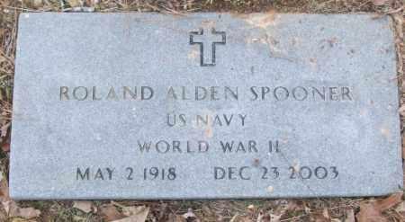 SPOONER (VETERAN WWII), ROLAND ALDEN - White County, Arkansas   ROLAND ALDEN SPOONER (VETERAN WWII) - Arkansas Gravestone Photos