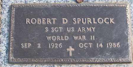 SPURLOCK (VETERAN WWII), ROBERT D - White County, Arkansas | ROBERT D SPURLOCK (VETERAN WWII) - Arkansas Gravestone Photos