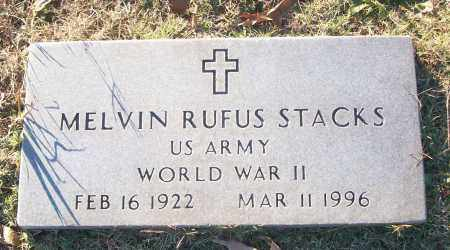 STACKS (VETERAN WWII), MELVIN RUFUS - White County, Arkansas | MELVIN RUFUS STACKS (VETERAN WWII) - Arkansas Gravestone Photos