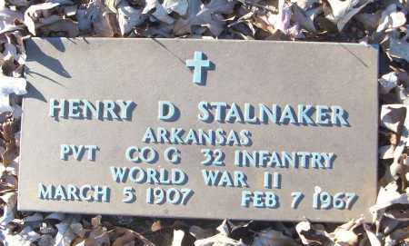 STALNAKER (VETERAN WWII), HENRY D - White County, Arkansas   HENRY D STALNAKER (VETERAN WWII) - Arkansas Gravestone Photos