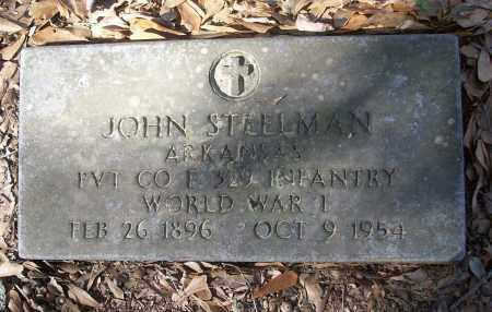 STEELMAN (VETERAN WWI), JOHN - White County, Arkansas | JOHN STEELMAN (VETERAN WWI) - Arkansas Gravestone Photos