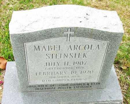 STEINSIEK, MABEL - White County, Arkansas   MABEL STEINSIEK - Arkansas Gravestone Photos