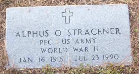 STRACENER (VETERAN WWII), ALPHUS O - White County, Arkansas   ALPHUS O STRACENER (VETERAN WWII) - Arkansas Gravestone Photos