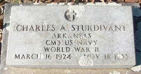 STURDIVANT (VETERAN WWII), CHARLES A - White County, Arkansas   CHARLES A STURDIVANT (VETERAN WWII) - Arkansas Gravestone Photos