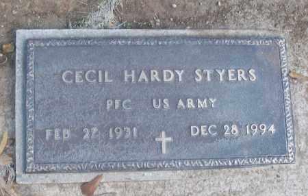 STYERS (VETERAN), CECIL HARDY - White County, Arkansas | CECIL HARDY STYERS (VETERAN) - Arkansas Gravestone Photos