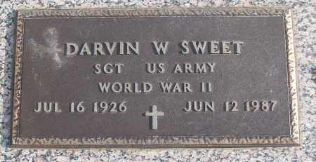 SWEET (VETERAN WWII), DARVIN W - White County, Arkansas | DARVIN W SWEET (VETERAN WWII) - Arkansas Gravestone Photos