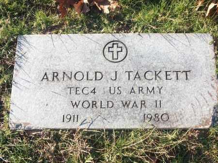 TACKETT (VETERAN WWII), ARNOLD J - White County, Arkansas   ARNOLD J TACKETT (VETERAN WWII) - Arkansas Gravestone Photos