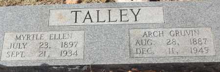 TALLEY, MYRTLE ELLEN - White County, Arkansas | MYRTLE ELLEN TALLEY - Arkansas Gravestone Photos