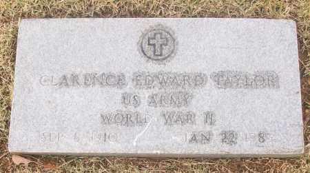 TAYLOR  (VETERAN WWII), CLARENCE EDWARD - White County, Arkansas   CLARENCE EDWARD TAYLOR  (VETERAN WWII) - Arkansas Gravestone Photos