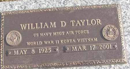 TAYLOR (VETERAN 3 WARS), WILLIAM D - White County, Arkansas | WILLIAM D TAYLOR (VETERAN 3 WARS) - Arkansas Gravestone Photos