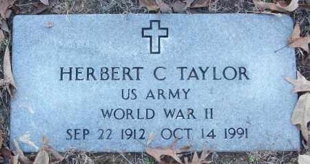 TAYLOR (VETERAN WWII), HERBERT C - White County, Arkansas | HERBERT C TAYLOR (VETERAN WWII) - Arkansas Gravestone Photos