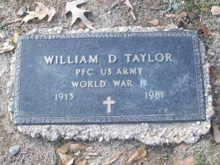 TAYLOR (VETERAN WWII), WILLIAM D - White County, Arkansas | WILLIAM D TAYLOR (VETERAN WWII) - Arkansas Gravestone Photos