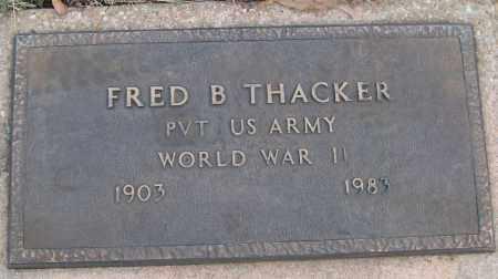 THACKER (VETERAN WWII), FRED B - White County, Arkansas   FRED B THACKER (VETERAN WWII) - Arkansas Gravestone Photos