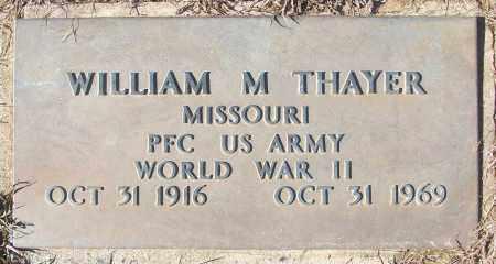 THAYER (VETERAN WWII), WILLIAM M - White County, Arkansas | WILLIAM M THAYER (VETERAN WWII) - Arkansas Gravestone Photos
