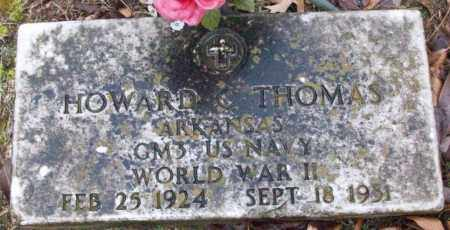 THOMAS (VETERAN WWII), HOWARD C - White County, Arkansas | HOWARD C THOMAS (VETERAN WWII) - Arkansas Gravestone Photos