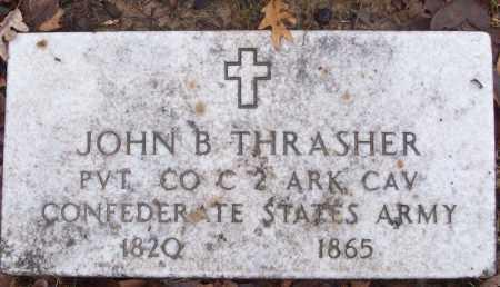 THRASHER (VETERAN CSA), JOHN B - White County, Arkansas   JOHN B THRASHER (VETERAN CSA) - Arkansas Gravestone Photos