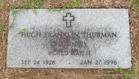 THURMAN (VETERAN WWII), HUGH FRANKLIN - White County, Arkansas   HUGH FRANKLIN THURMAN (VETERAN WWII) - Arkansas Gravestone Photos