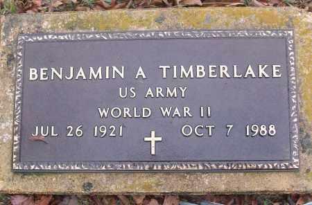 TIMBERLAKE (VETERAN WWII), BENJAMIN A - White County, Arkansas | BENJAMIN A TIMBERLAKE (VETERAN WWII) - Arkansas Gravestone Photos