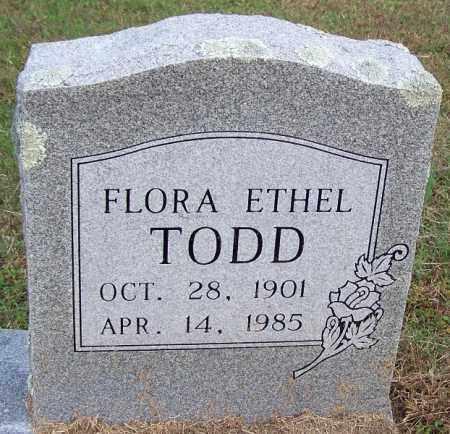 TODD, FLORA ETHEL - White County, Arkansas   FLORA ETHEL TODD - Arkansas Gravestone Photos