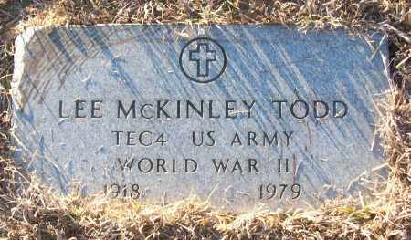 TODD (VETERAN WWII), LEE MCKINLEY - White County, Arkansas | LEE MCKINLEY TODD (VETERAN WWII) - Arkansas Gravestone Photos