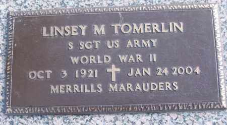 TOMERLIN (VETERAN WWII), LINSEY M - White County, Arkansas | LINSEY M TOMERLIN (VETERAN WWII) - Arkansas Gravestone Photos