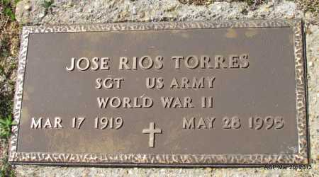 TORRES (VETERAN WWII), JOSE RIOS - White County, Arkansas   JOSE RIOS TORRES (VETERAN WWII) - Arkansas Gravestone Photos