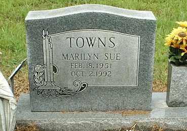 TOWNS, MARILYN SUE - White County, Arkansas | MARILYN SUE TOWNS - Arkansas Gravestone Photos