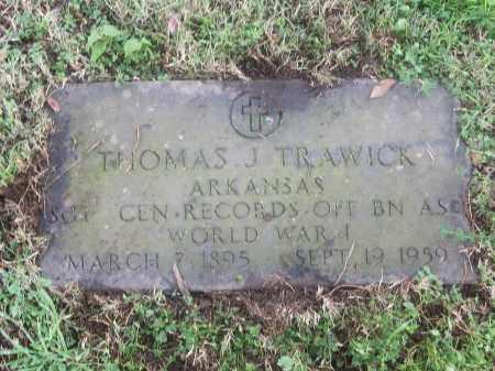 TRAWICK  (VETERAN WWI), THOMAS J - White County, Arkansas | THOMAS J TRAWICK  (VETERAN WWI) - Arkansas Gravestone Photos
