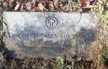 TURNBOW (VETERAN WWI), ALVIE THOMAS - White County, Arkansas | ALVIE THOMAS TURNBOW (VETERAN WWI) - Arkansas Gravestone Photos