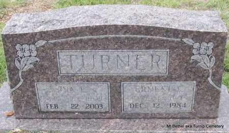 TURNER, ERNEST F - White County, Arkansas | ERNEST F TURNER - Arkansas Gravestone Photos