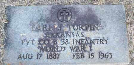 TURPIN (VETERAN WWI), EARL J - White County, Arkansas | EARL J TURPIN (VETERAN WWI) - Arkansas Gravestone Photos