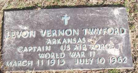 TWYFORD (VETERAN WWII), LEVON VERNON - White County, Arkansas   LEVON VERNON TWYFORD (VETERAN WWII) - Arkansas Gravestone Photos