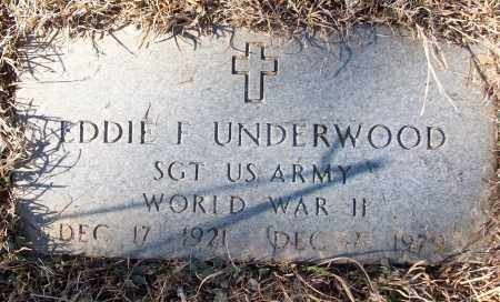 UNDERWOOD (VETERAN WWII), EDDIE F - White County, Arkansas | EDDIE F UNDERWOOD (VETERAN WWII) - Arkansas Gravestone Photos